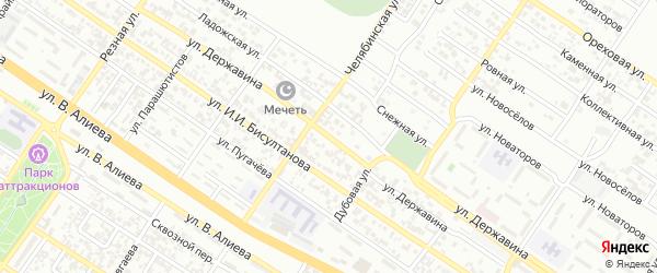 Улица Державина на карте Грозного с номерами домов