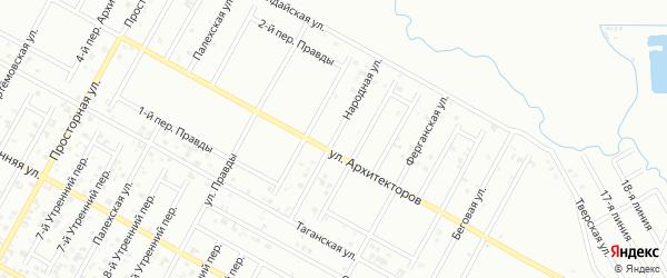 Народная улица на карте Грозного с номерами домов