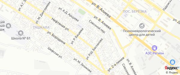 Ташкалинский 2-й переулок на карте Грозного с номерами домов