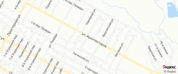 Архитекторов 4-й переулок на карте Грозного с номерами домов