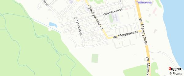 Сухумский 2-й переулок на карте Грозного с номерами домов
