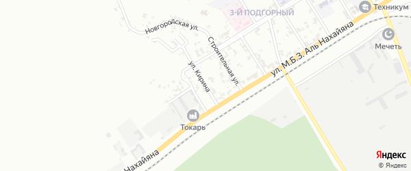 Улица Кирина на карте Грозного с номерами домов