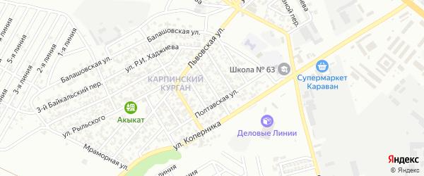 Красноводская улица на карте Грозного с номерами домов