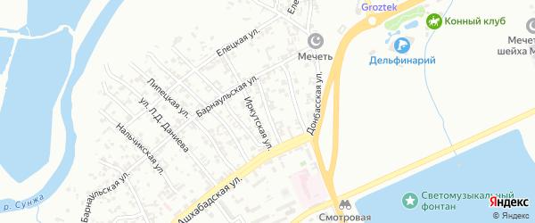 Ижевская улица на карте Грозного с номерами домов