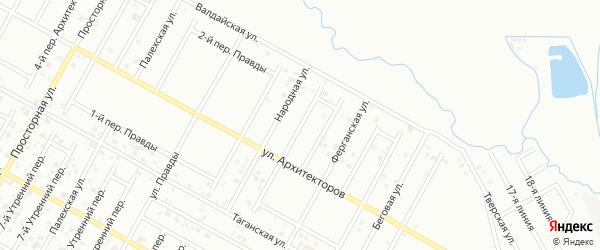 Переулок Архитекторов на карте Грозного с номерами домов