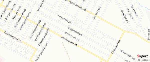 Стартовая улица на карте Грозного с номерами домов