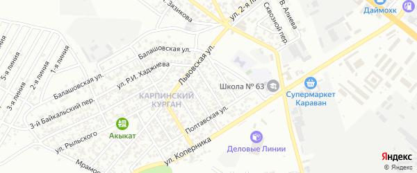 Нарвская улица на карте Грозного с номерами домов