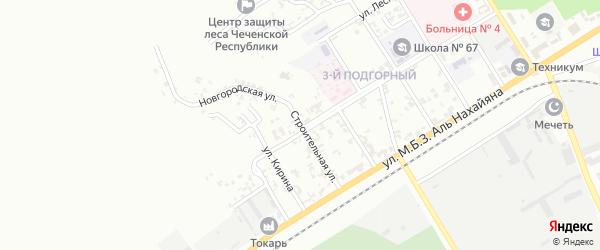 Строительная улица на карте Грозного с номерами домов
