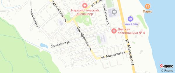 Гурьевская улица на карте Грозного с номерами домов