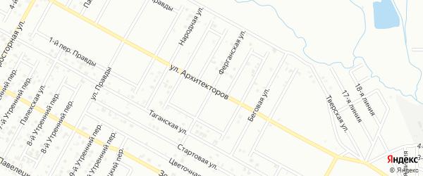 Ферганская улица на карте Грозного с номерами домов