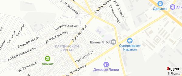 Пермская улица на карте Грозного с номерами домов