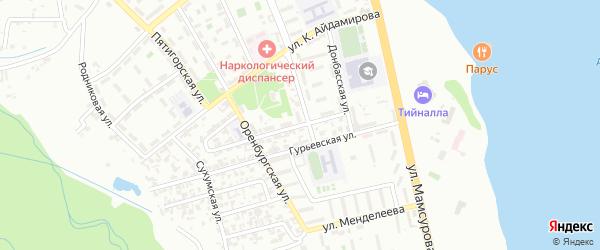 Донбасский 1-й переулок на карте Грозного с номерами домов