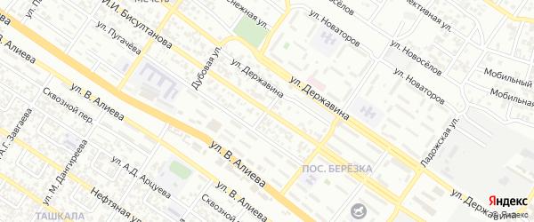 Улица Плотников на карте Грозного с номерами домов