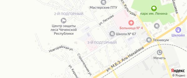 Электротоковая улица на карте Грозного с номерами домов