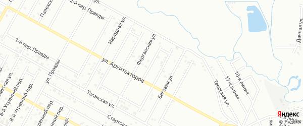 Архитекторов 8-й переулок на карте Грозного с номерами домов