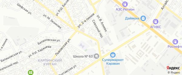 Улица 1 Линия на карте Грозного с номерами домов