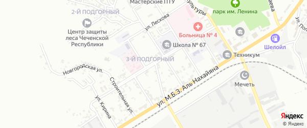Социалистическая улица на карте Грозного с номерами домов