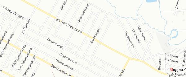 Беговая улица на карте Грозного с номерами домов