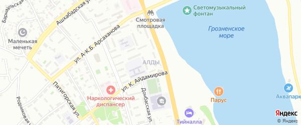 Улица им Д.С.Асмаева на карте Грозного с номерами домов