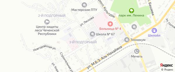 Улица им Ю.П. Погуляева на карте Грозного с номерами домов