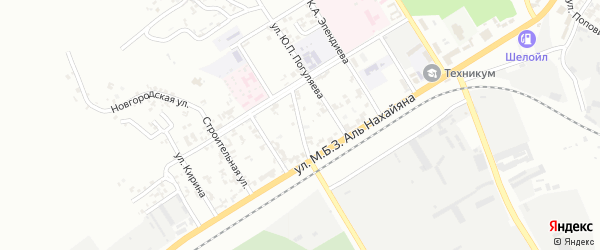 Нефтезаводская улица на карте Грозного с номерами домов