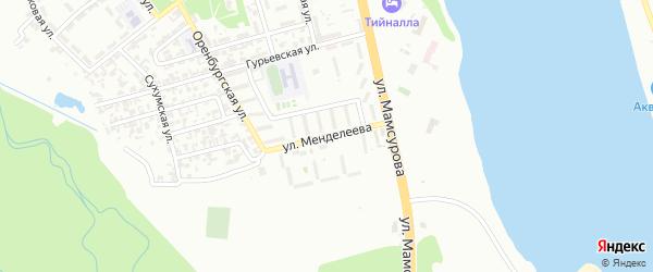 Улица им Менделеева на карте Грозного с номерами домов