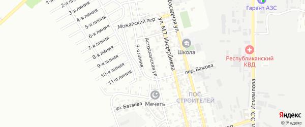 Астраханская улица на карте Грозного с номерами домов