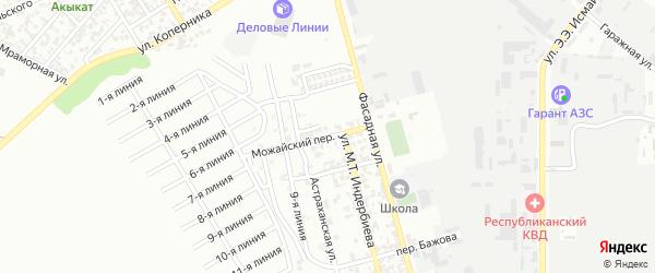 Можайский переулок на карте Грозного с номерами домов