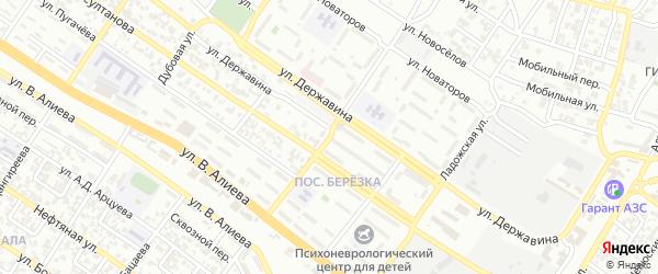 Улица Каменщиков на карте Грозного с номерами домов