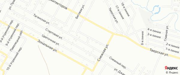 Архитекторов 10-й переулок на карте Грозного с номерами домов