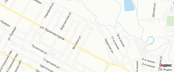 Архитекторов 9-й переулок на карте Грозного с номерами домов