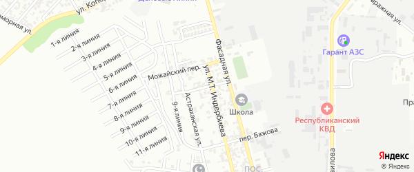 Донской переулок на карте Грозного с номерами домов
