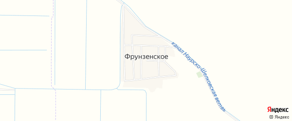 Карта Фрунзенского села в Чечне с улицами и номерами домов