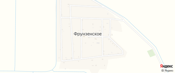Западная улица на карте Фрунзенского села с номерами домов