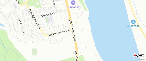 Улица Мамсурова на карте Грозного с номерами домов