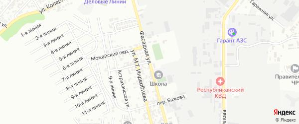 Фасадная улица на карте Грозного с номерами домов