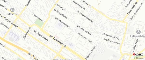Улица Новаторов на карте Грозного с номерами домов