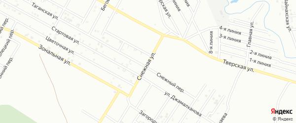 Снежная улица на карте Грозного с номерами домов