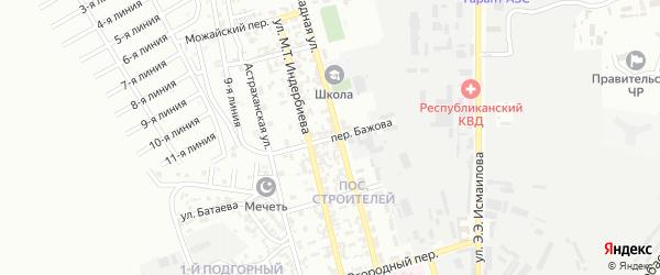 Переулок им Бажова на карте Грозного с номерами домов