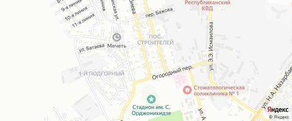 Улица им М.Т.Индербиева на карте Грозного с номерами домов
