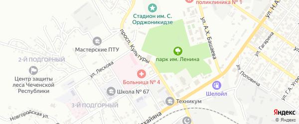 Проспект Культуры на карте Грозного с номерами домов
