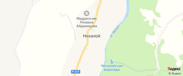 Улица Л.М.Эштиева на карте села Нихалой с номерами домов