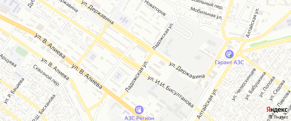 Ладожская улица на карте Грозного с номерами домов