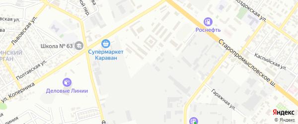 Гаражный 3-й переулок на карте Грозного с номерами домов
