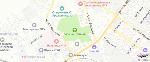 Ленина 4-й переулок на карте Грозного с номерами домов