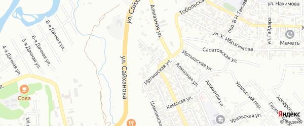 Переулок М.Х.Дахшукаева на карте Грозного с номерами домов