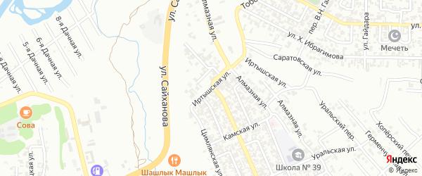 Иртышская улица на карте Грозного с номерами домов