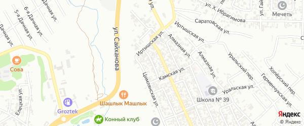 Цимлянский 4-й переулок на карте Грозного с номерами домов