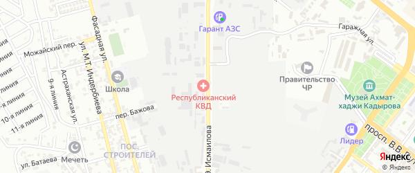 Улица Калашникова на карте Грозного с номерами домов