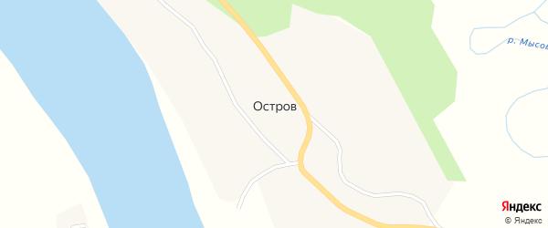 Центральная улица на карте деревни Острова с номерами домов